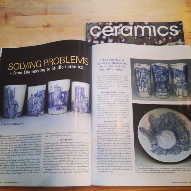Ceramics Monthly April Edition!